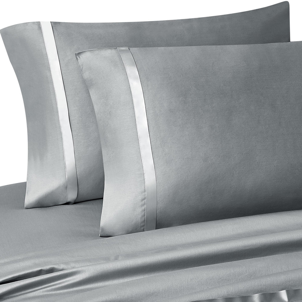 Kiley Platinum Pillowcase Pair [Luxury comforter Sets] [by Latest Bedding]