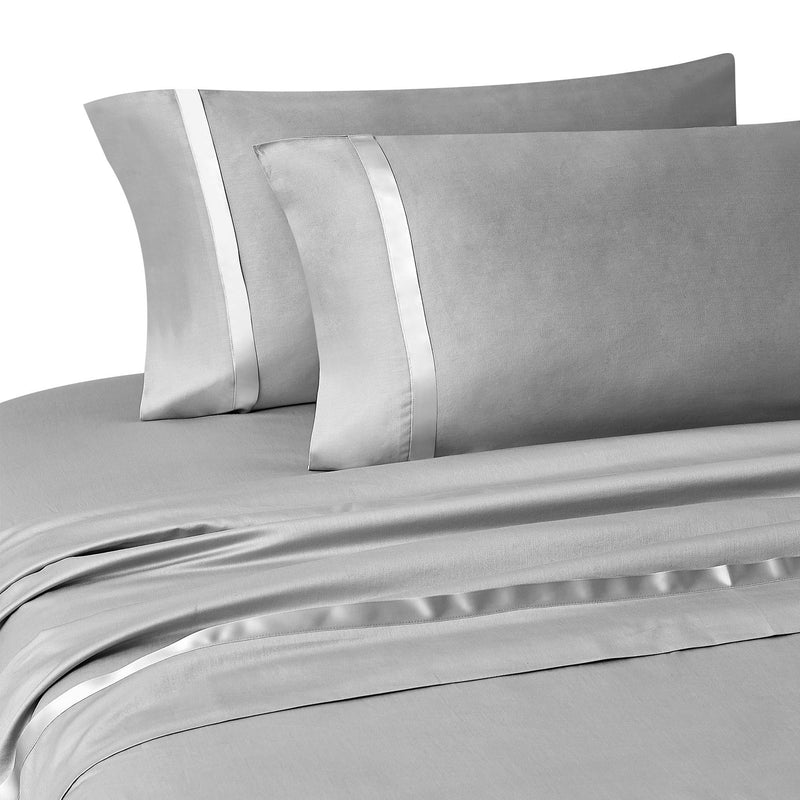 Kiley Silver 4-Piece Sheet Set [Luxury comforter Sets] [by Latest Bedding]
