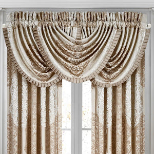 LaScala Gold Waterfall Window Valance [Luxury comforter Sets] [by Latest Bedding]
