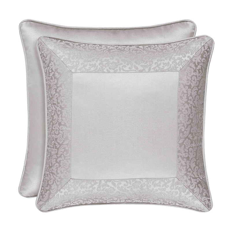"LaScala Silver Square Decorative Throw Pillow 18"" x 18"" [Luxury comforter Sets] [by Latest Bedding]"