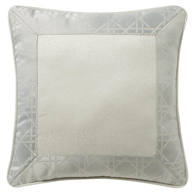 "Lacy Silver Decorative Pillow 16""W x 16""L [Luxury comforter Sets] [by Latest Bedding]"