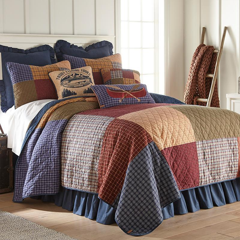 Lake House 3-Piece Cotton Quilt Set [Luxury comforter Sets] [by Latest Bedding]