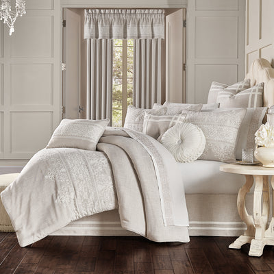 Lauralynn Beige 4-Piece Comforter Set Comforter Sets By J. Queen New York