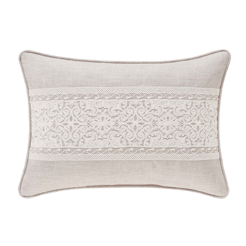 Lauralynn Beige Boudoir Decorative Throw Pillow [Luxury comforter Sets] [by Latest Bedding]