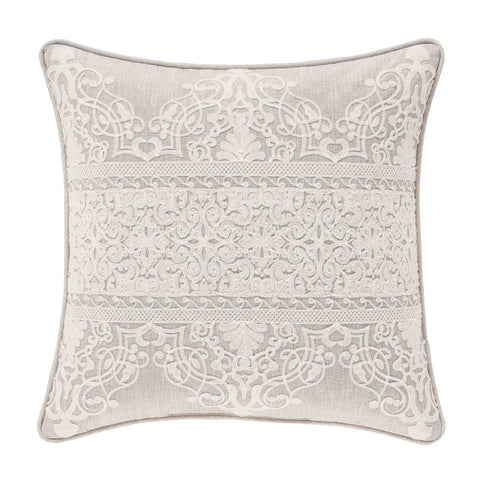 "Lauralynn Beige Decorative Throw Pillow 20"" x 20"" [Luxury comforter Sets] [by Latest Bedding]"