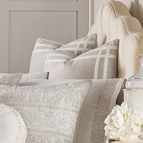Lauralynn Beige Euro Sham [Luxury comforter Sets] [by Latest Bedding]