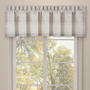 Lauralynn Beige Straight Window Valance [Luxury comforter Sets] [by Latest Bedding]
