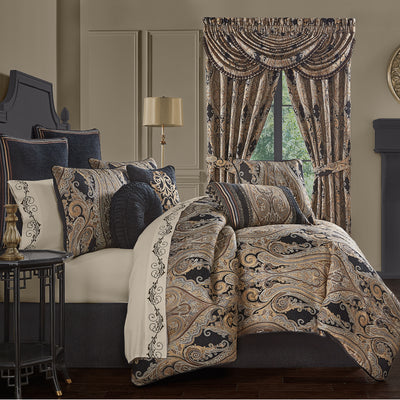 Lauretta Black 4-Piece Comforter Set Comforter Sets By J. Queen New York