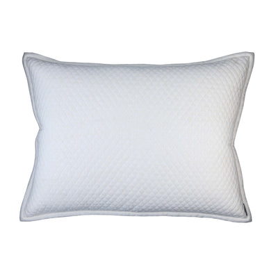 Laurie Ivory Basketweave Diamond Luxe Euro Throw Pillow [Luxury comforter Sets] [by Latest Bedding]