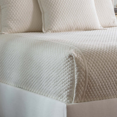 Laurie Ivory Basketweave Diamond Quilted Coverlet Coverlet By Lili Alessandra
