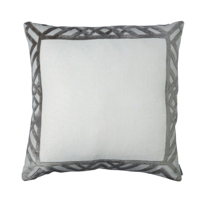Laurie Ivory Karl Basketweave Euro Throw Pillow [Luxury comforter Sets] [by Latest Bedding]