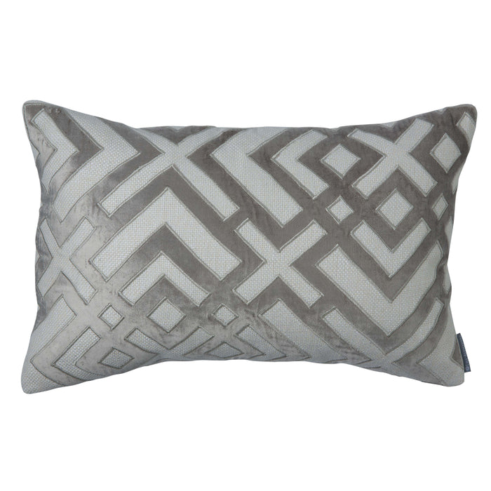 "Laurie Ivory Karl Basketweave Rectangle Throw Pillow 22"" x 14"""