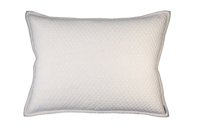 Laurie Ivory Quilted Euro Throw Pillow [Luxury comforter Sets] [by Latest Bedding]