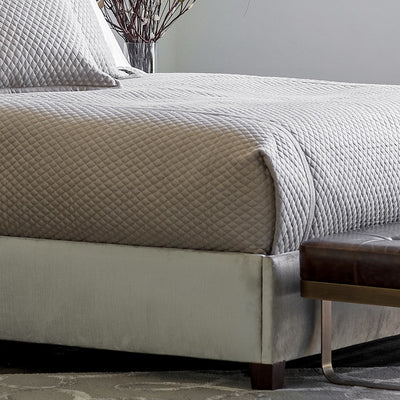 Laurie Stone Diamond Quilted Coverlet Coverlet By Lili Alessandra