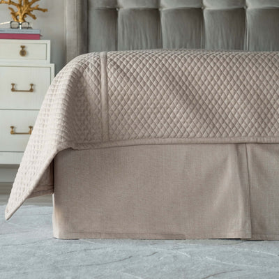 Laurie Stone Tailored Bedskirt [Luxury comforter Sets] [by Latest Bedding]