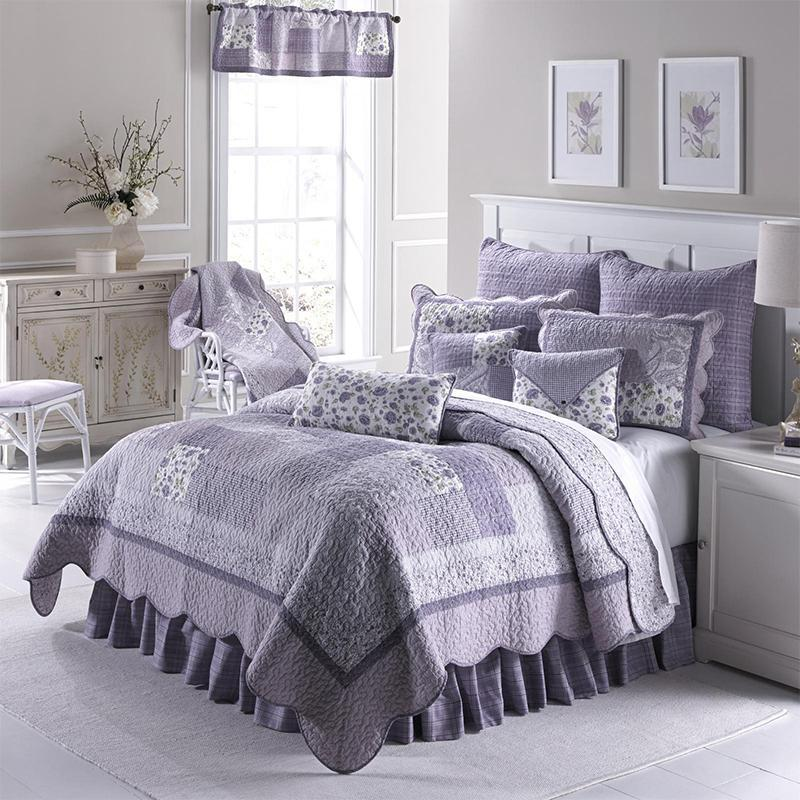 Lavender Rose 3-Piece Cotton Quilt Set [Luxury comforter Sets] [by Latest Bedding]