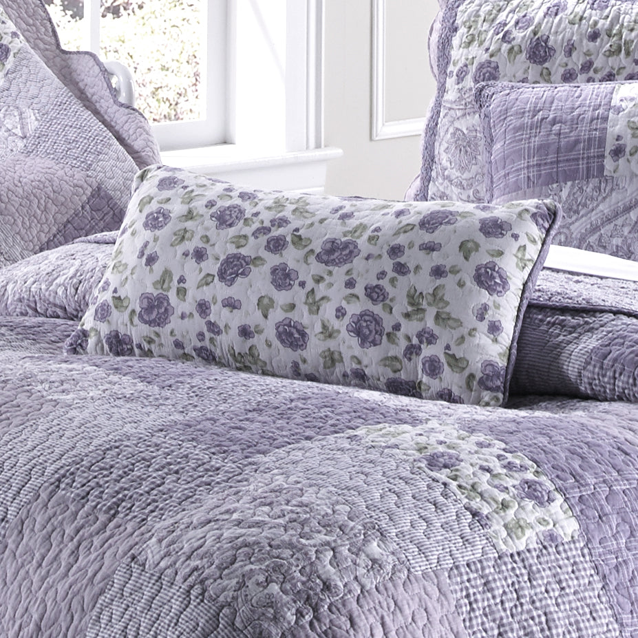 "Lavender Rose Rectangle Decorative Pillow 22"" x 11"" [Luxury comforter Sets] [by Latest Bedding]"
