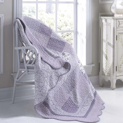 Lavender Rose Throw [Luxury comforter Sets] [by Latest Bedding]