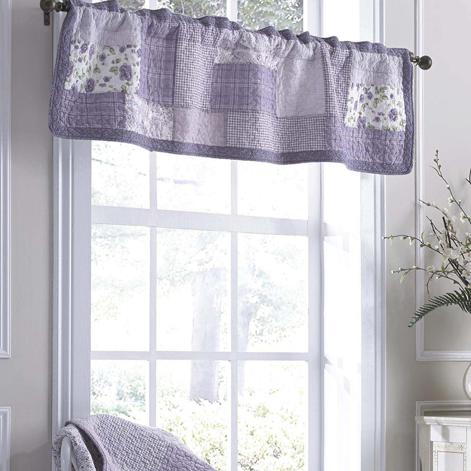Lavender Rose Window Valance [Luxury comforter Sets] [by Latest Bedding]