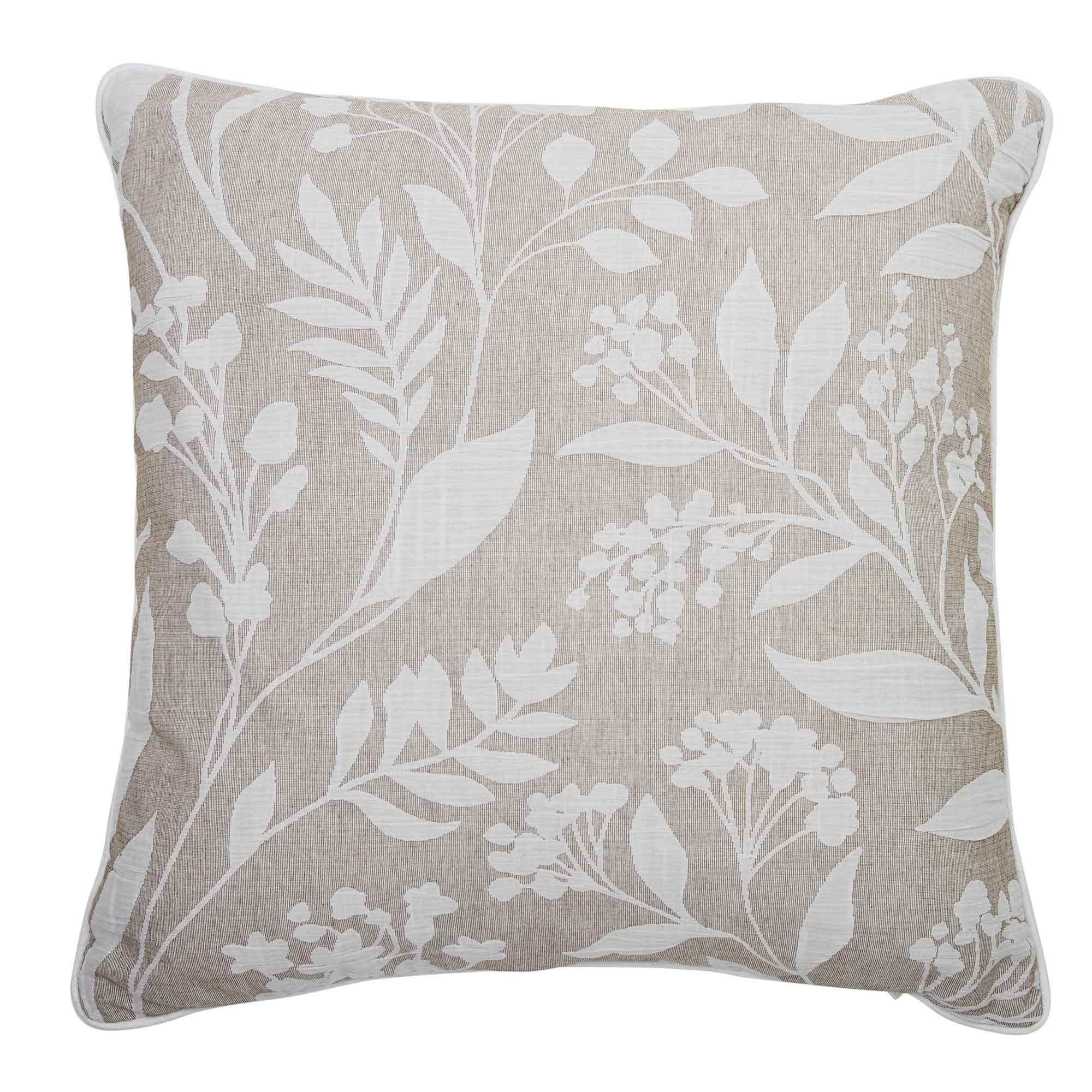 "Layla Taupe Square Throw Pillow 18"" x 18"" [Luxury comforter Sets] [by Latest Bedding]"