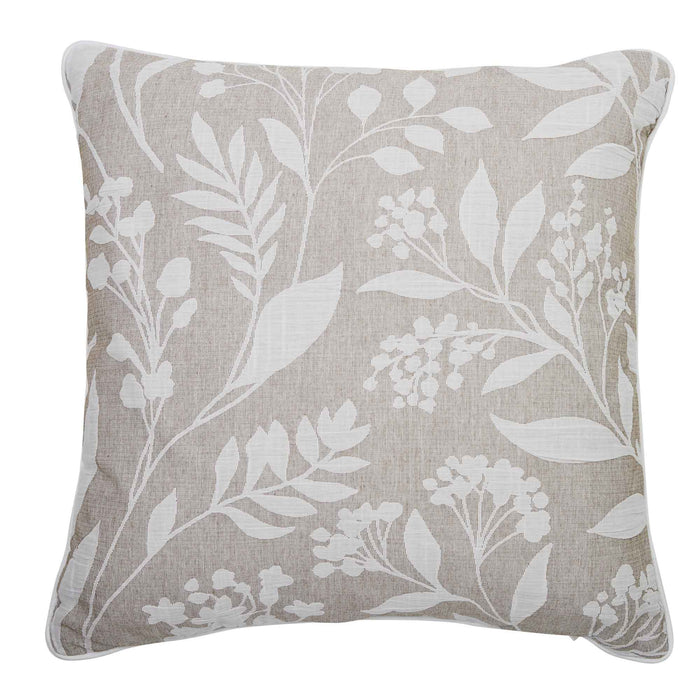 "Layla Taupe Square Throw Pillow 18"" x 18"""