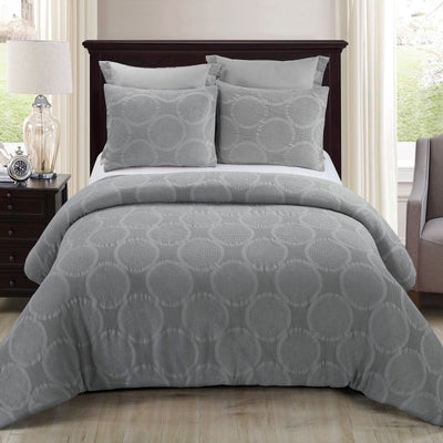 Leon Grey 3-Piece Comforter Set [Luxury comforter Sets] [by Latest Bedding]