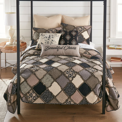 Lexington Black 3-Piece Quilt Set [Luxury comforter Sets] [by Latest Bedding]
