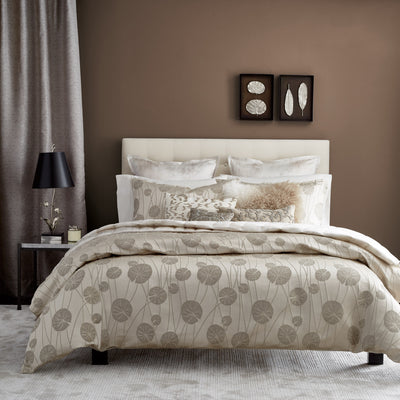 Lily Pad Champagne Duvet Cover - Michael Aram [Luxury comforter Sets] [by Latest Bedding]