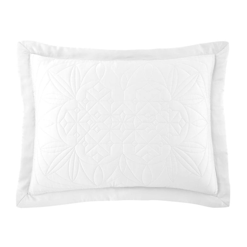 Lismore White Sham [Luxury comforter Sets] [by Latest Bedding]