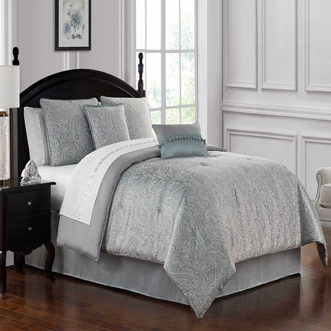 Landon Aqua 4-Piece Comforter Set [Luxury comforter Sets] [by Latest Bedding]