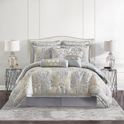 Loretta Linen 4-Piece Comforter Set Comforter Sets By Croscill Home LLC