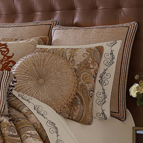 Luciana Beige Euro Sham [Luxury comforter Sets] [by Latest Bedding]