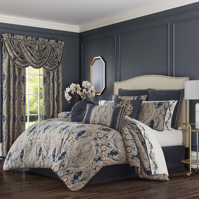 Luciana Indigo 4-Piece Comforter Set Comforter Sets By J. Queen New York