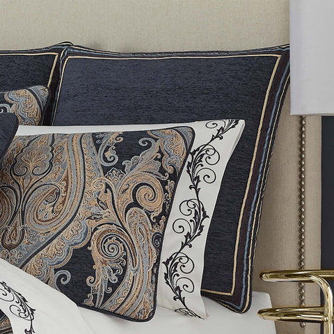 Luciana Indigo Euro Sham [Luxury comforter Sets] [by Latest Bedding]