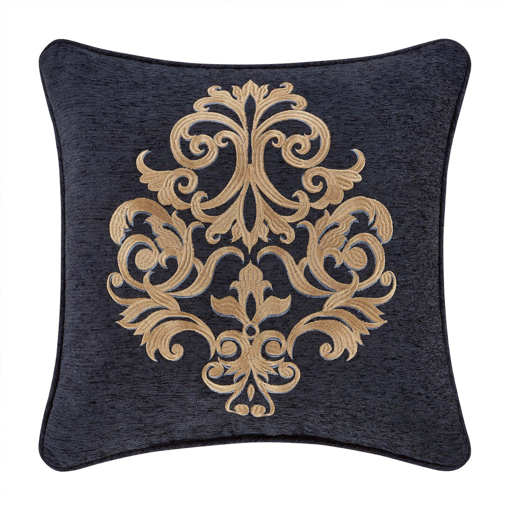 "Luciana Indigo Throw Pillow 18"" X 18"" [Luxury comforter Sets] [by Latest Bedding]"