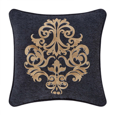 "Luciana Indigo Square Throw Pillow 18""W x 18""L"" [Luxury comforter Sets] [by Latest Bedding]"