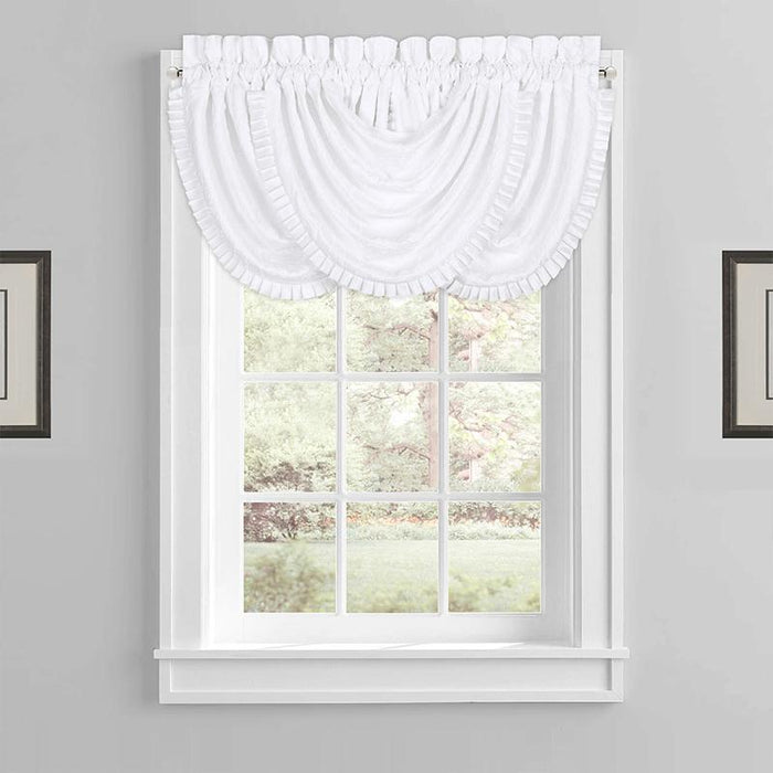 Mackay White Waterfall Window Valance