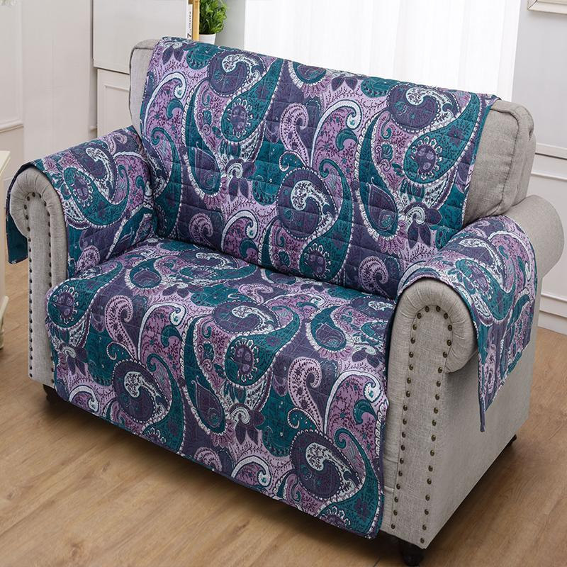 Slipcovers Madison Paisley Purple Furniture Protector Loveseat Latest Bedding