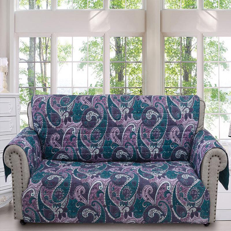 Slipcovers Madison Paisley Purple Furniture Protector Sofa Latest Bedding