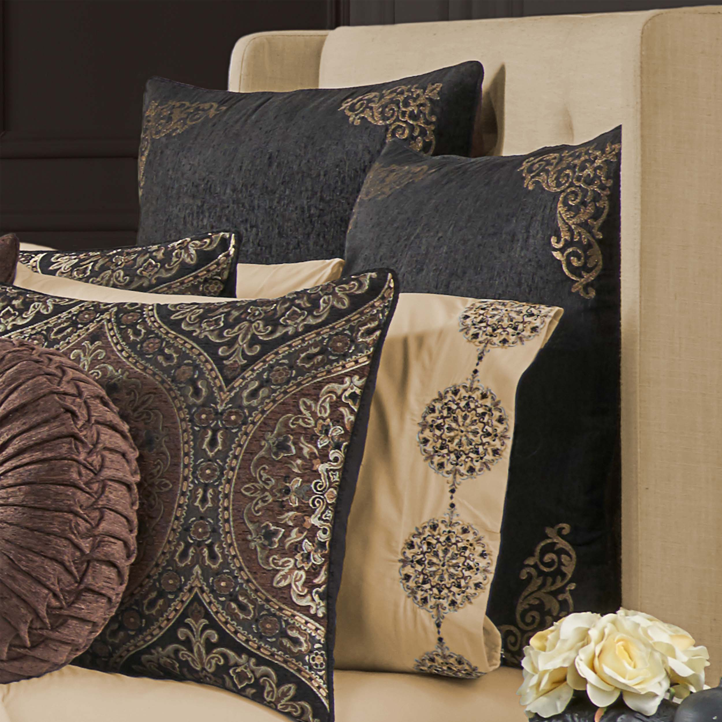 Mahogany Chocolate Euro Sham [Luxury comforter Sets] [by Latest Bedding]