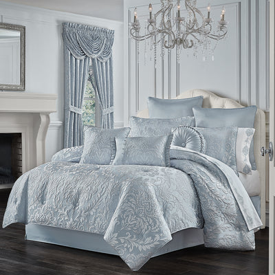 Malita Powder Blue 4-Piece Comforter Set Comforter Sets By J. Queen New York