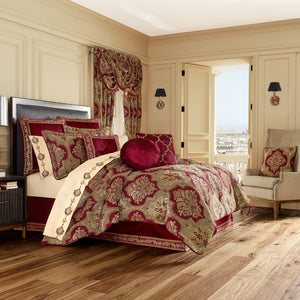 Maribella Crimson 4-Piece Comforter Set [Luxury comforter Sets] [by Latest Bedding]