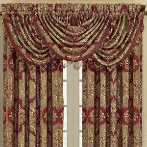 Maribella Crimson Waterfall Window Valance [Luxury comforter Sets] [by Latest Bedding]