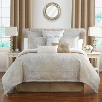 Maritana Neutral 4-Piece Comforter Set Comforter Sets By Waterford