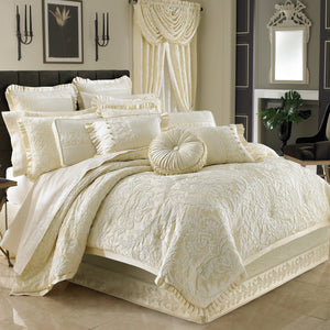 Marquis Ivory 4-Piece Comforter Set [Luxury comforter Sets] [by Latest Bedding]