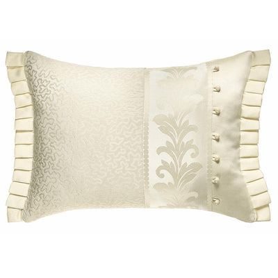 Marquis Ivory Boudoir Decorative Throw Pillow- [Luxury comforter Sets] [by Latest Bedding]