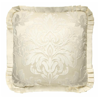 Marquis Ivory Square Decorative Throw Pillow- [Luxury comforter Sets] [by Latest Bedding]