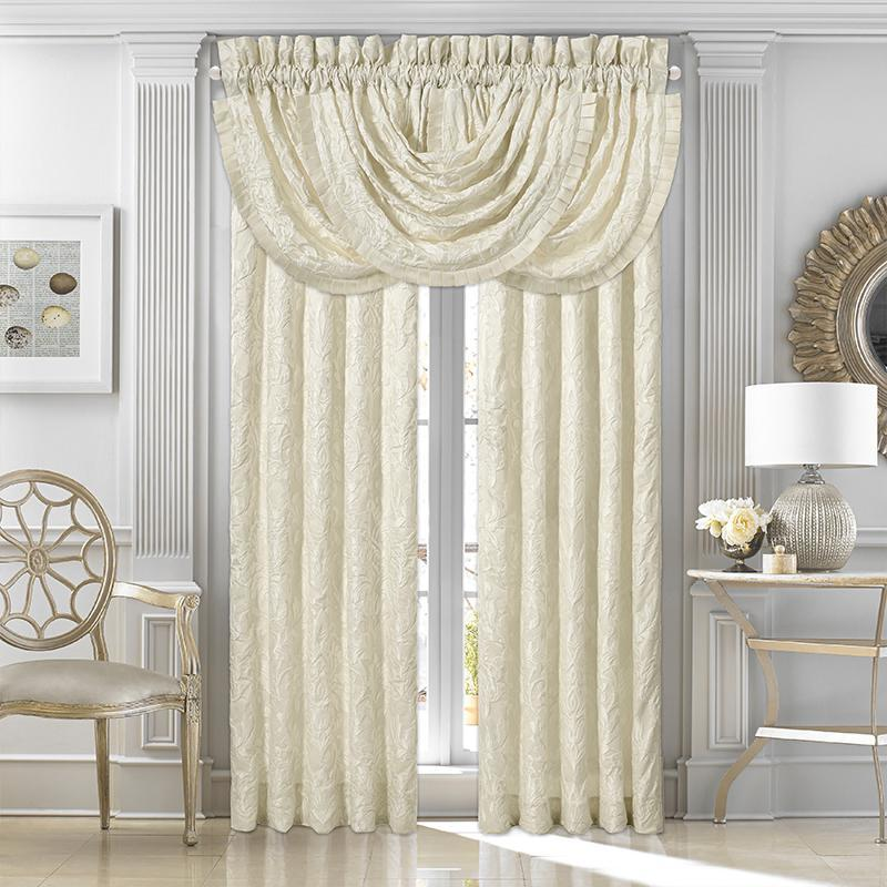 Marquis Ivory Window Panel Pair [Luxury comforter Sets] [by Latest Bedding]