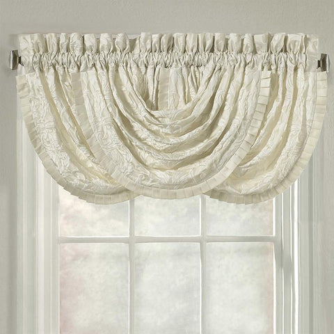 Marquis Ivory Waterfall Window Valance [Luxury comforter Sets] [by Latest Bedding]