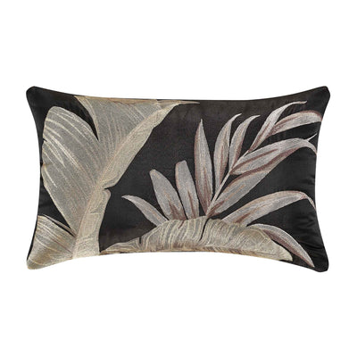 "Martinique Black Boudoir Decorative Throw Pillow 21"" x 13""- [Luxury comforter Sets] [by Latest Bedding]"